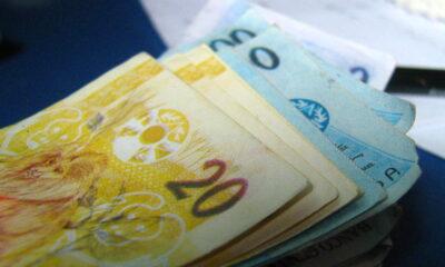 Notas de 20 e 100 reais ilustram pagamento do Nota Legal