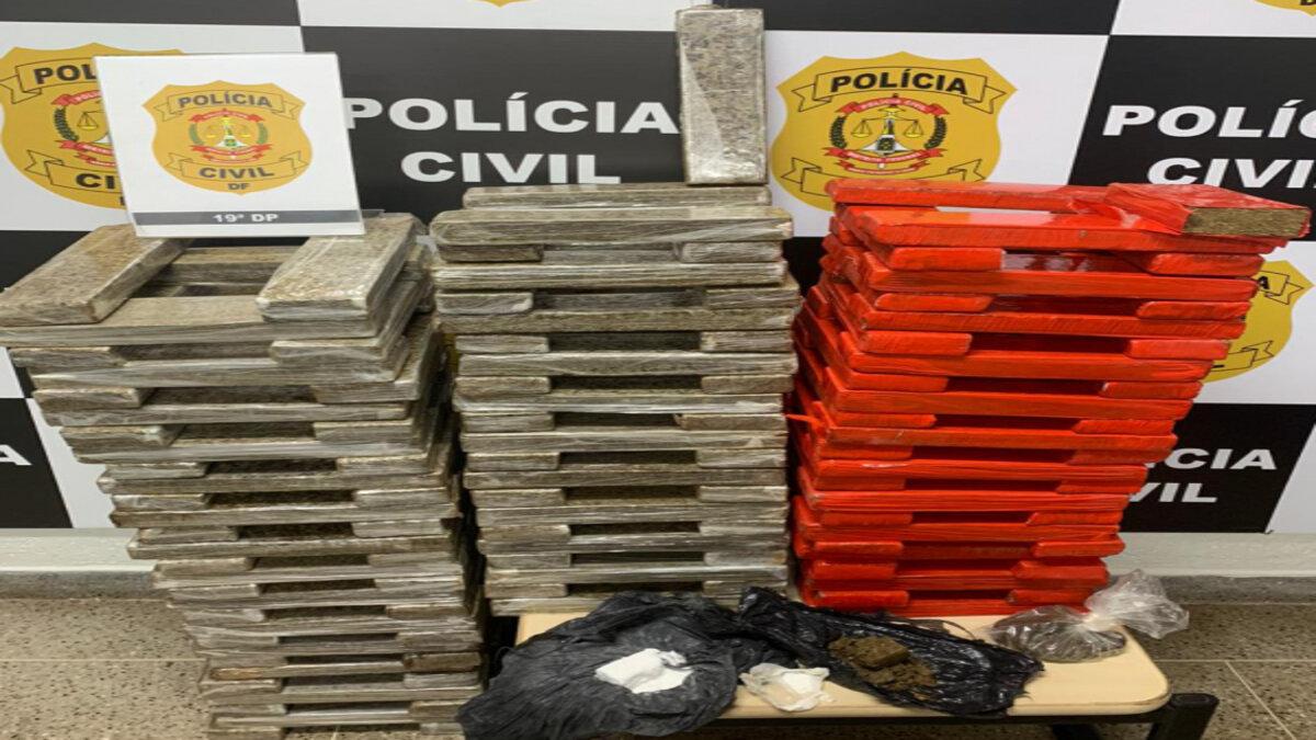 148 tabletes de maconha apreendidos pela PCDF em operação