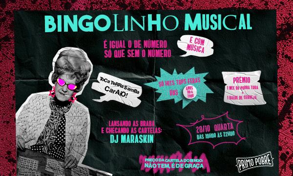 Bar Primo Pobre promove Bingo Musical nesta quarta-feira (28)