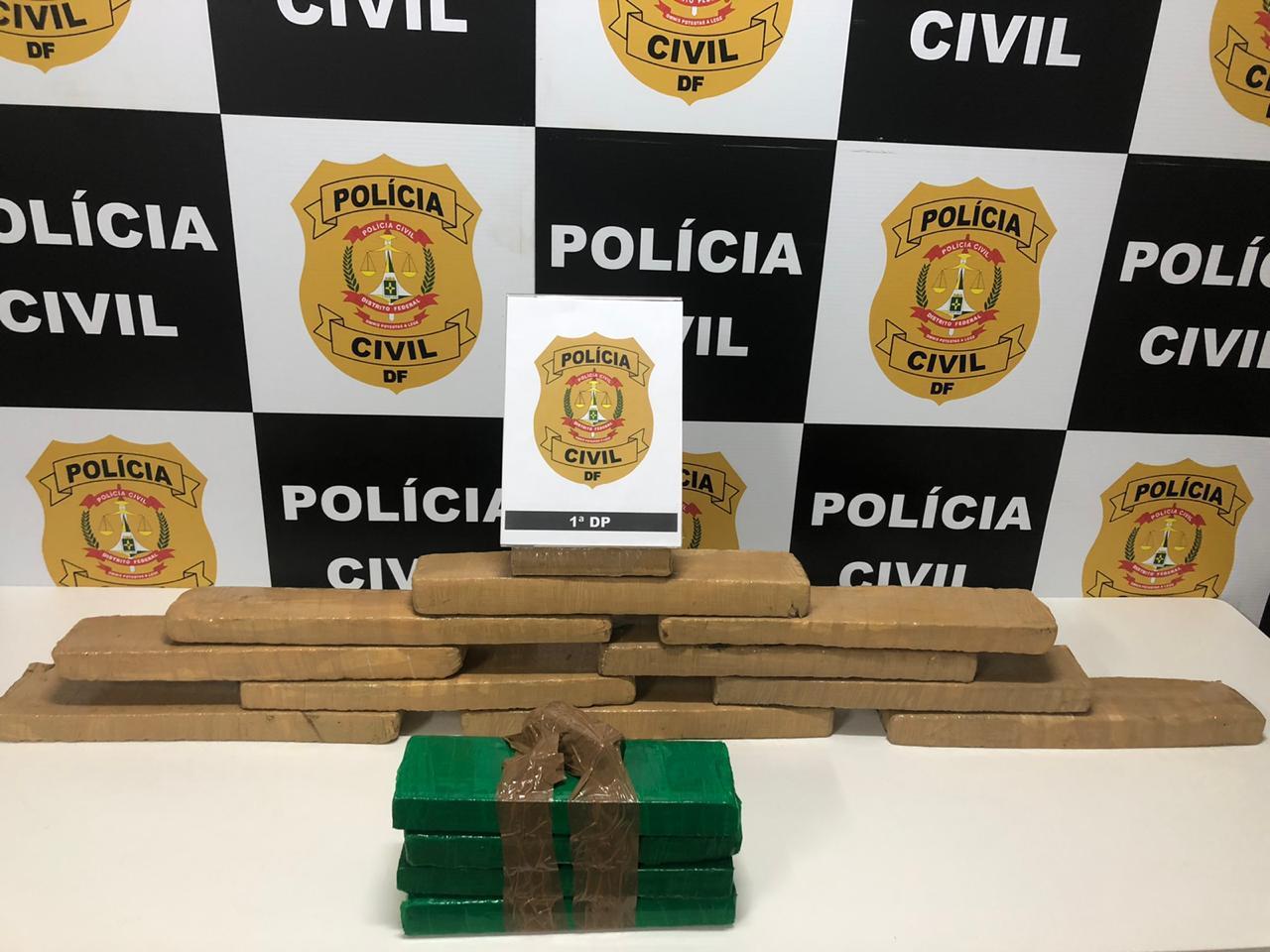 20 kg de maconha apreendidos pela Polícia Civil do DF