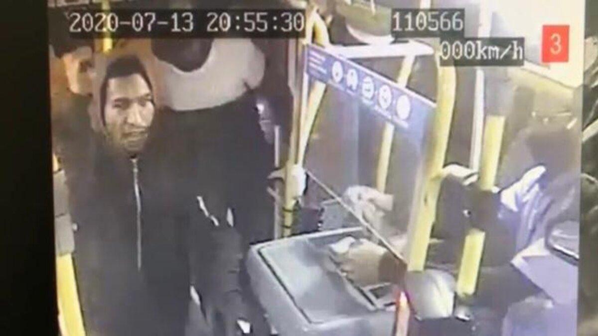 imagens de segurança de roubo em ônibus de Planaltina