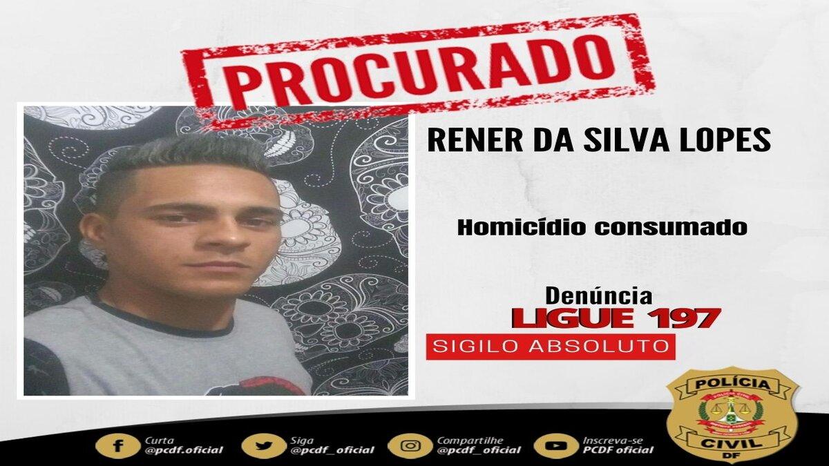 cartaz de procurado de suspeito de matar jovem em Sobradinho 2