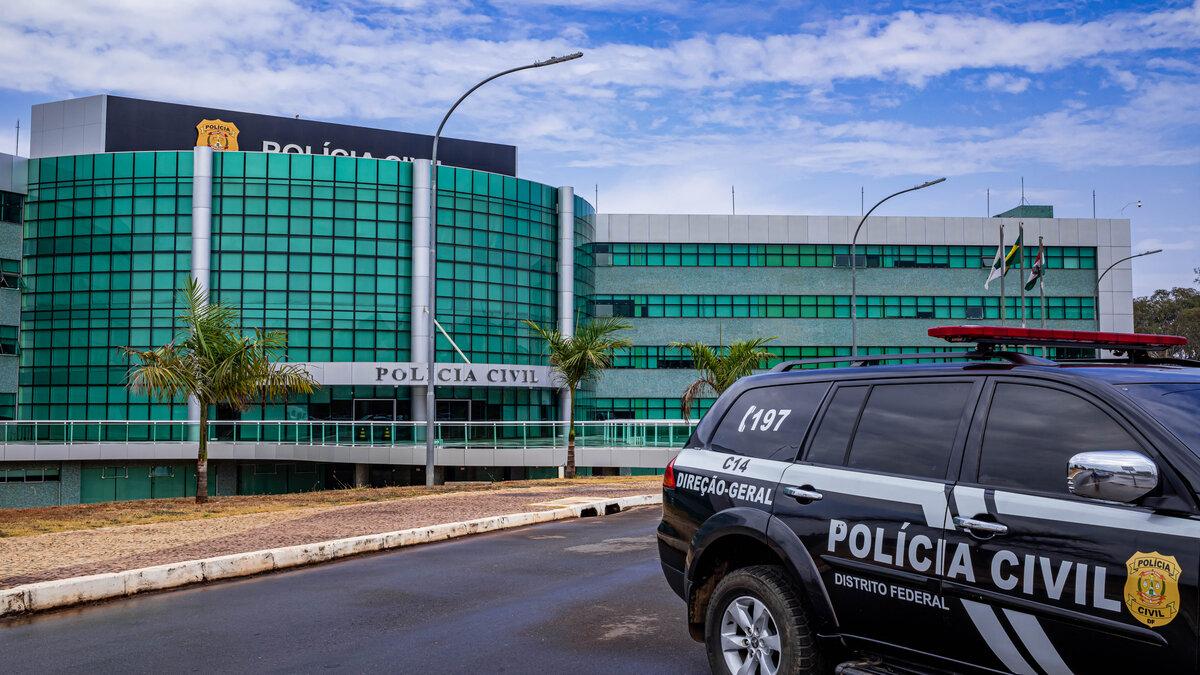 Fachada da Polícia Civil do DF