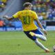 Eliminatórias Copa do Mundo: Atacante Neymar em partida de futebol