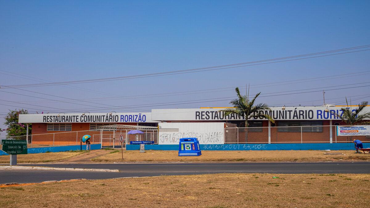 restaurantes comunitários DF: Fachada do Rorizão