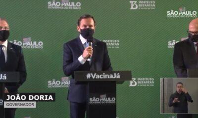 Governo do estado de São Paulo anuncia eficácia da Coronavac